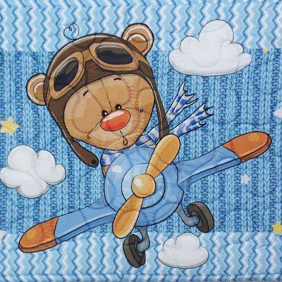 Tapete Infantil Antiderrapante Aviãozinho